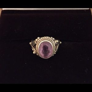 Jewelry - Sterling silver and amethyst ring